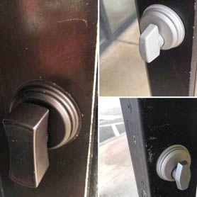 office door deadbolt installation
