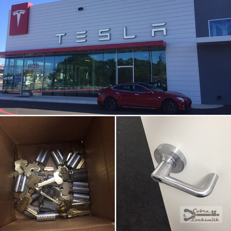Tesla Austin Office - full rekey