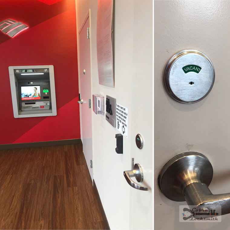 Security room lock installation