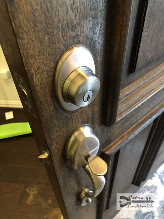 new door lock and handle installation