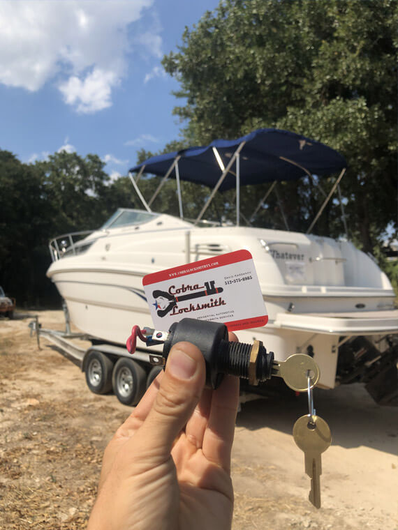Boat ingnition switch system replacement in Lakeway port