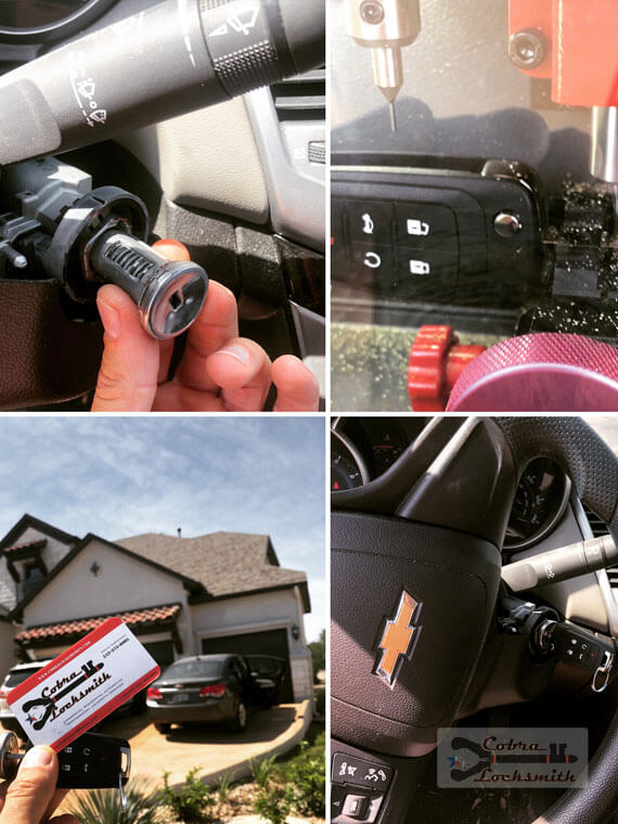New high security key originate by ignition disassembling for Chevy Cruze in Lakeway TX