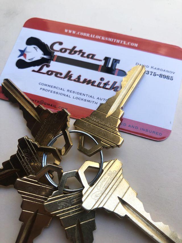 Keys from Cobra Locksmith