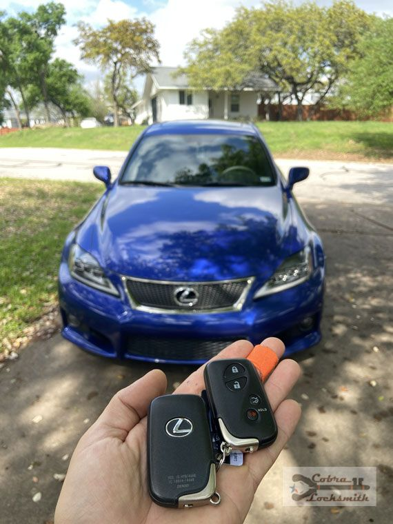 Lexus IS new smart key added for our new customer in ATX (2020)