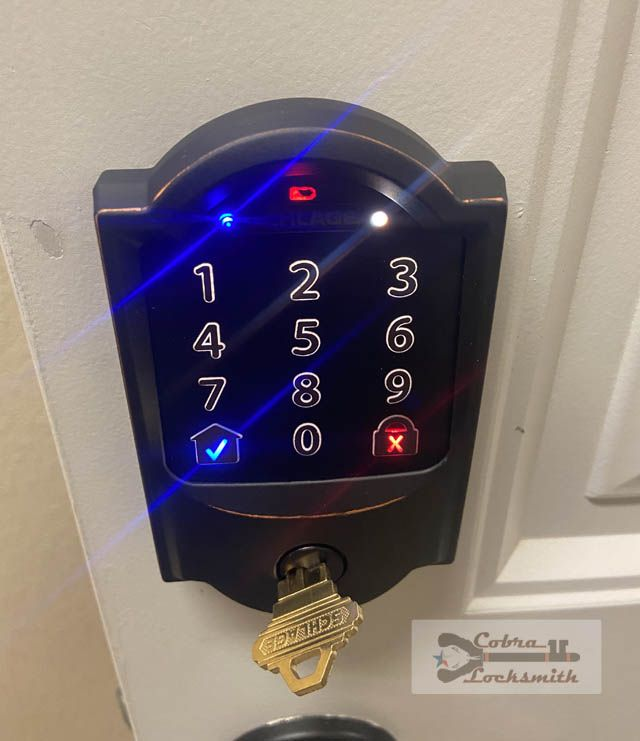 example of Schlage digital lock with keypad
