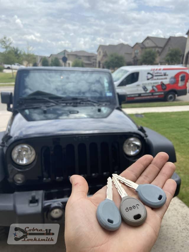 traditional keys for Jeep made by Cobra Locksmith