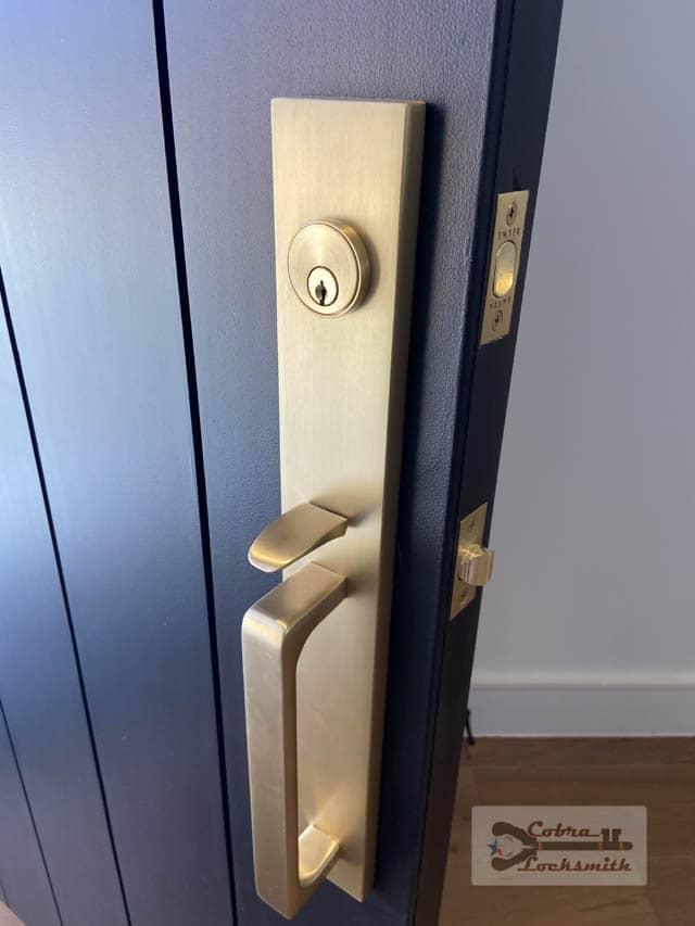 texas door with heavy lock
